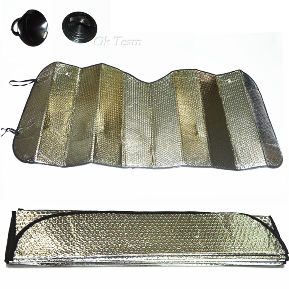 Universal Reflective Foldable Car Windscreen Sunshade Sun Shade Aluminum foil Silver Solar Protection Car Window Film Sunscreen(China (Mainland))