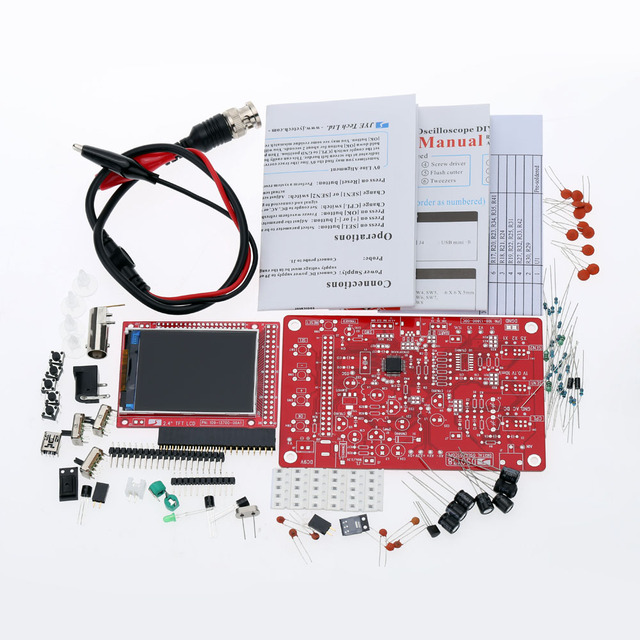 DSO138 Digital Oscilloscope DIY Kit DIY Parts for Oscilloscope Making Electronic diagnostic-tool Learning osciloscopio Set 1Msps