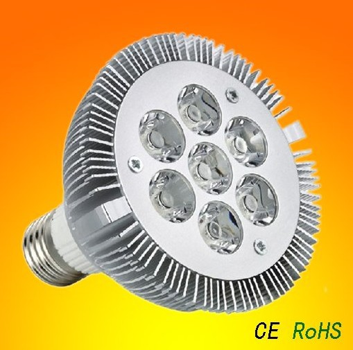 DIMMABLE par30 led bulb led spotlight 7*2W E27 PAR 30 led lamp Warm White/white 85-265v 4pcs for Brazilian World Cup light(China (Mainland))