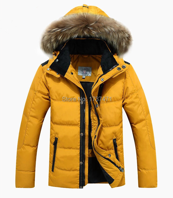 Free shipping men of new fund of 2015 autumn winters long down jacket Men's wear heavy hair down jacket,M-3XL(China (Mainland))