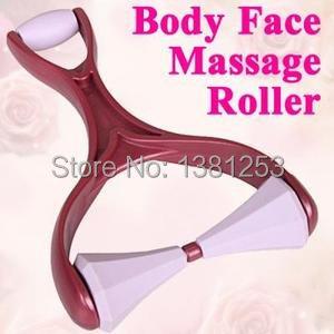 New Plastic Face Roller Handle Versatile Body Massager Surface design Relax 7008 A4lIK(China (Mainland))