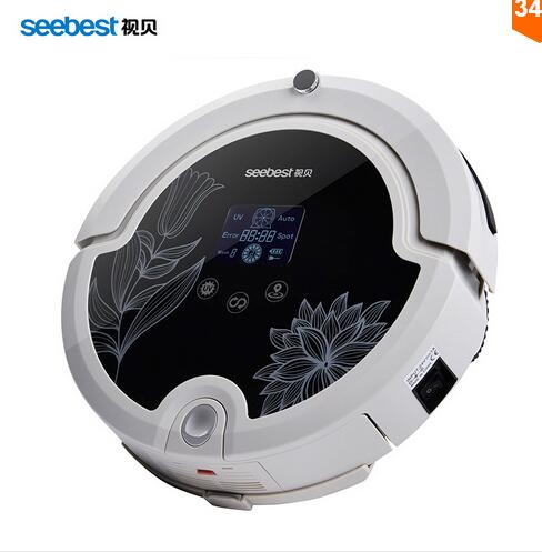 Multifunction Intelligent Robot Vacuum Cleaner with Sweep Vacuum Mop Sterilize LCD Touch Screen Schedule Self-charge(China (Mainland))