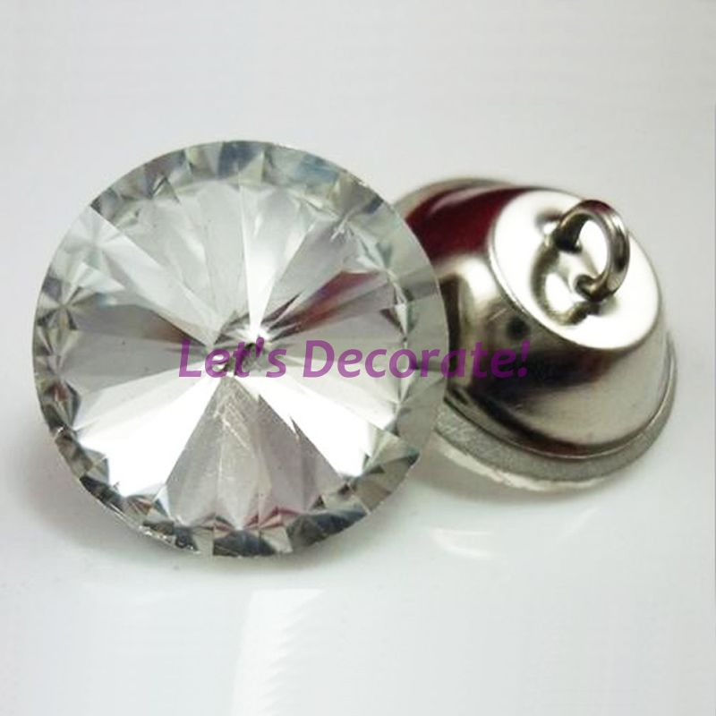 Free shipping 50PCS/LOT 18MM Satellite Crystal Buttons / Glass Buttons / Sewing Sofa Buttons Or DIY Decorations. WXK1850(China (Mainland))