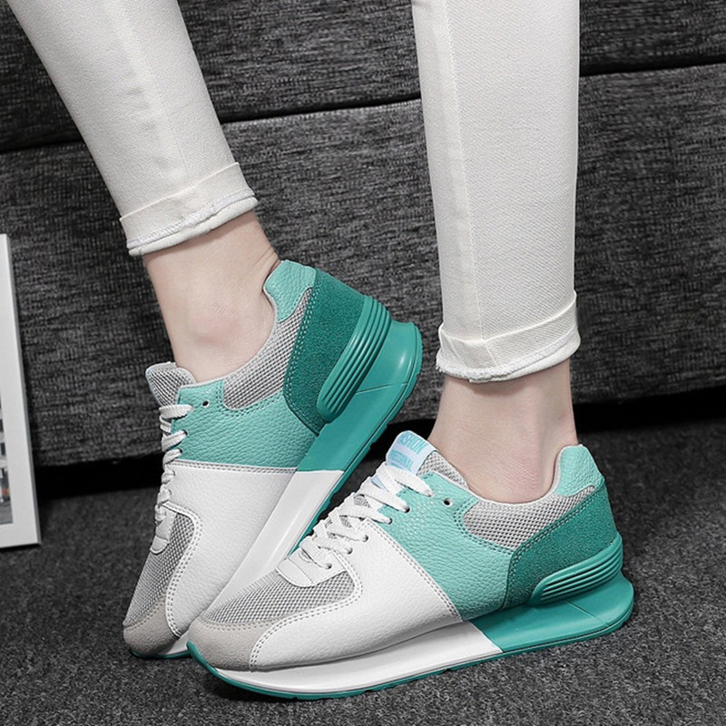 Fashion Breathable Ccasual Shoes Woman Thick Bottom Flat Shoes Ladies Walking Shoes Spring Autumn Women Shoes 34-40 Puls Size<br><br>Aliexpress
