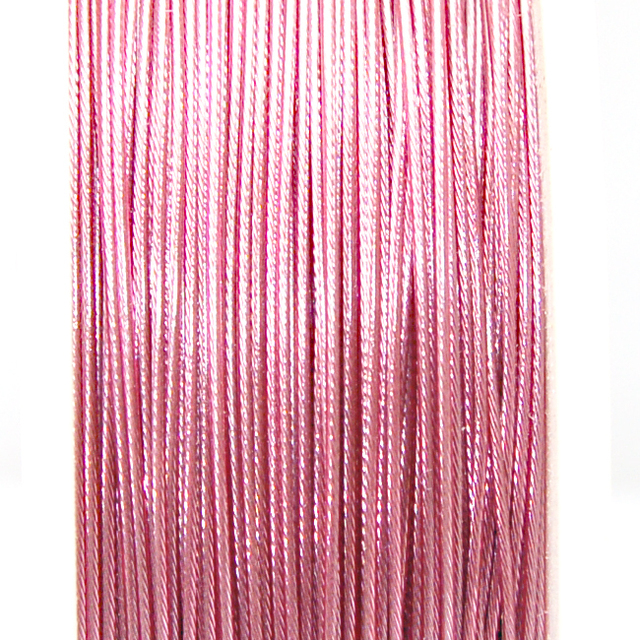 High quality stainless steel wire,0.8mm pink korea tigertail beading wire,thread cord,coated with plastic protective film wire