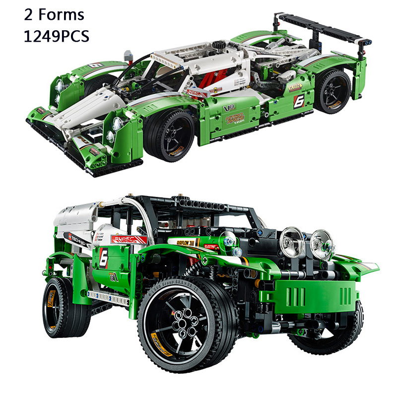 Classic Technics car-styling 24 Hours Race cars SUV jeep 2in1 building block Off-road vehicle lepine compatible lego42039 toys(China (Mainland))