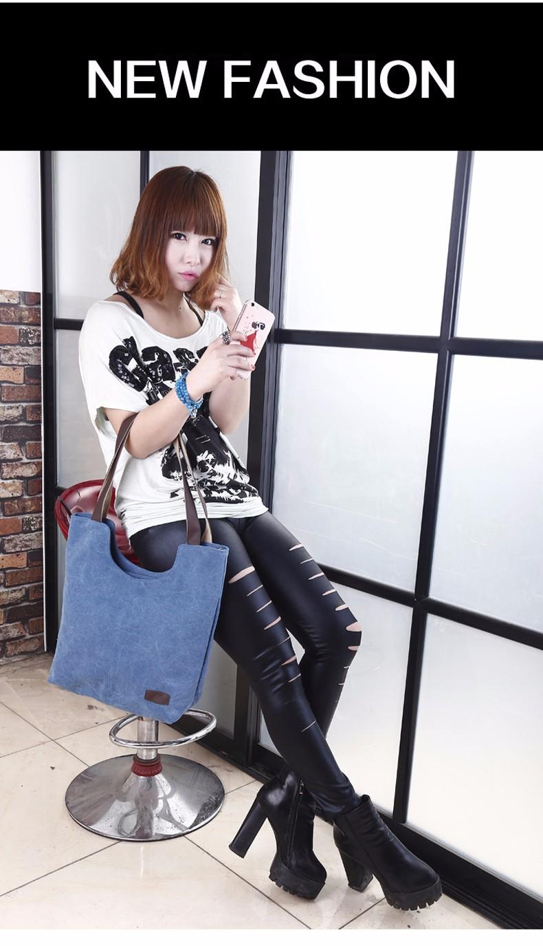 Korean Style Simple Ladies Tote Bag Durable Canvas Hand Bag Fashion Simple Hobo Bag Women Stylish Casual Shoulder Bag