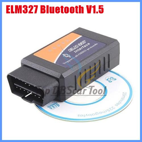 Diagnostic Tool code reader OBD2 II ELM327 V1.5 Bluetooth Car Diagnostic Scanner free shipping Works On Android Torque