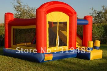 super slide bounce house inflatable moonwalk jumper bouncy castle+free shipping+free CE/UL blower