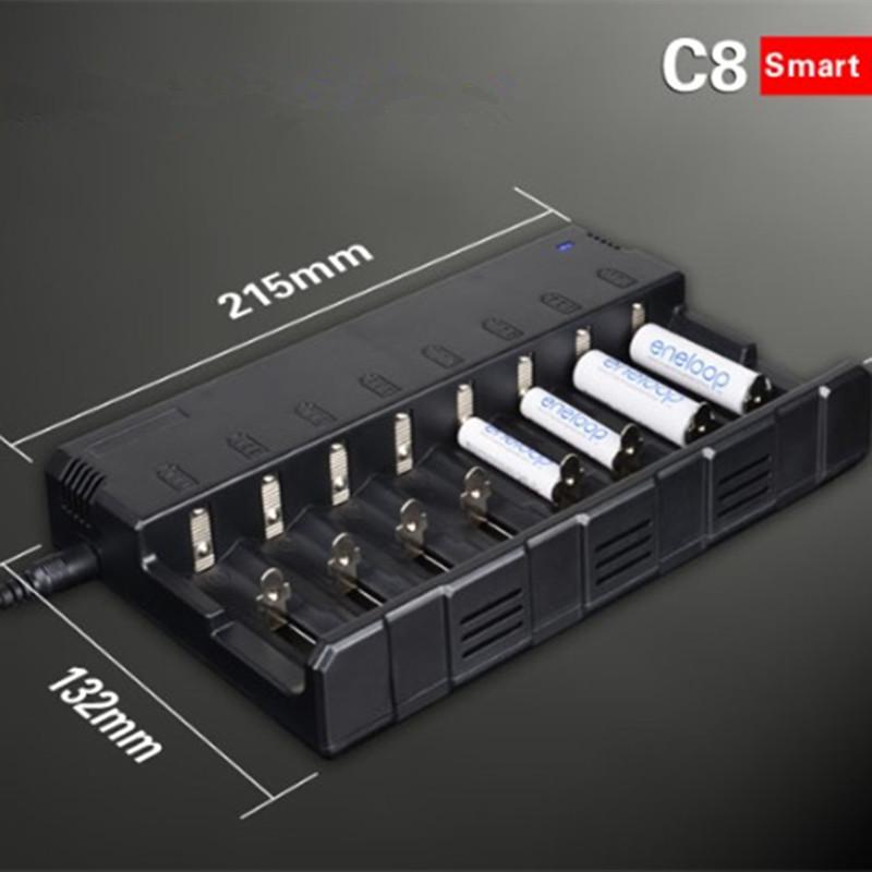 New Klarus C8 battery charger Li-ion 26650 22650 18650 18490 17670 17500 16340 14500 10440 Ni-MH/Ni-Cd AA AAA AAAA smart charger(China (Mainland))