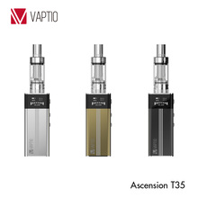Vaptio health e cigarette mechanical box mod vape Ascension T35 2100 mAh battery dual atomzier coil 35W subox mini cigarttes