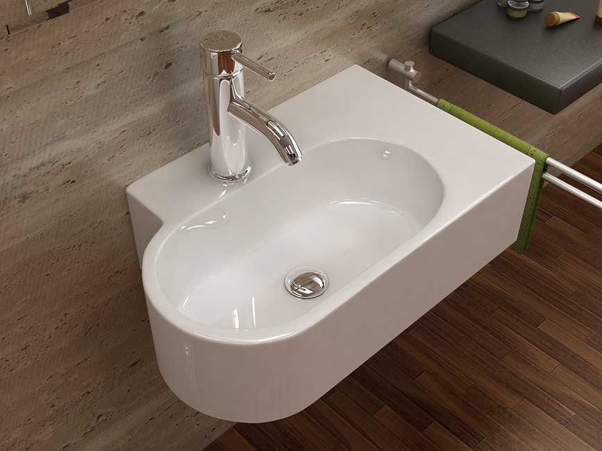 Basin wash sink ceramic sink bathroom basin-in Bathroom Sinks from ...