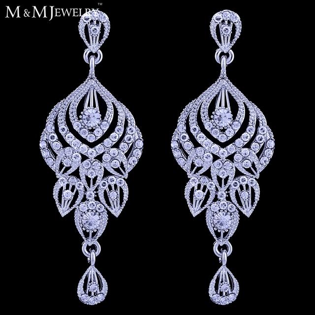 Великолепный кристалл Brincos свадебный свадебные украшения мода серьги длинные серьги для женщин EH438