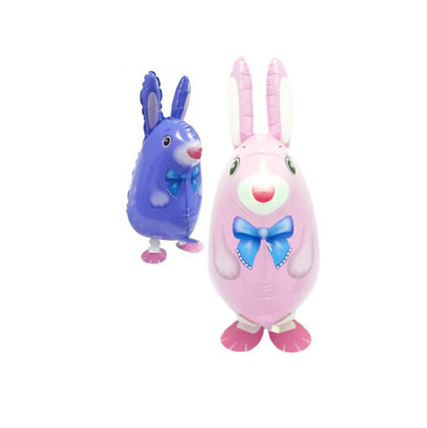 Rabbit Aniaml Walking Pet Foil Balloon for Kids Toy Inflatable Balloon Toys(China (Mainland))