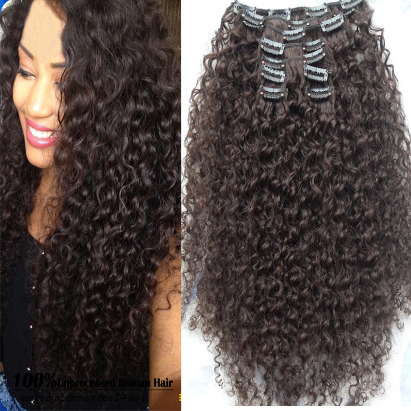 Clip In Human Hair Extensions African American 29