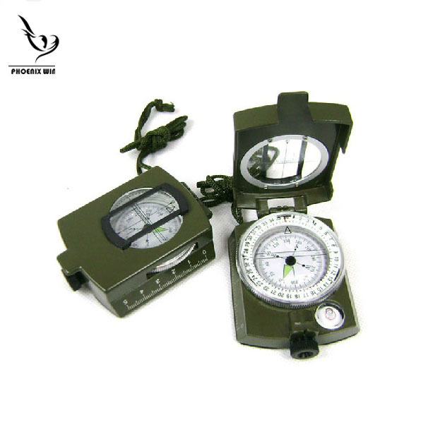 High Quality promotion Military Prismatic Sighting Compass w/ Pouch(China (Mainland))