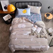 3/4pcs Modern Bedding Set Super King Size Bed Linens Reactive Printing Duvet Cover Set Pastoral Style Home Bed Set Flat Sheet(China)