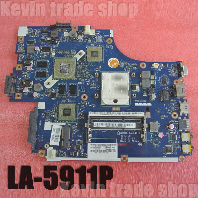 MBPUU02001 MB.PUU02.001 NEW75 LA-5911P laptop mainboard for acer aspire 5551 5552 motherboard AMD ATI 5650M DDR3 Fully work(China (Mainland))
