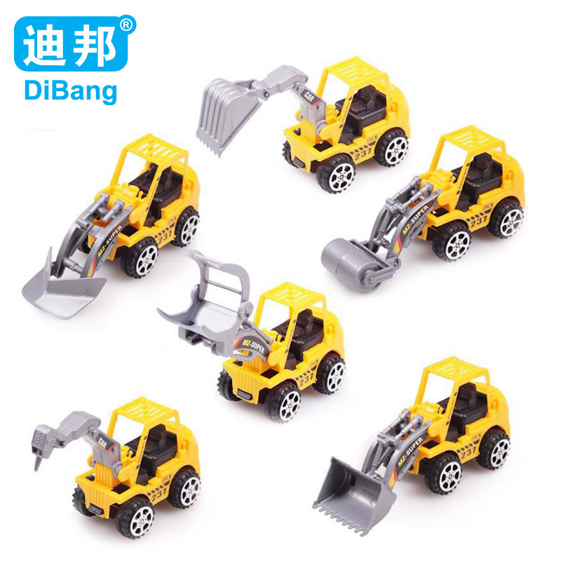 6pcs/set Brand Construction vehicles truck model toy cars for children Model Toy Quality plastic Christmas gift Free shipping(China (Mainland))