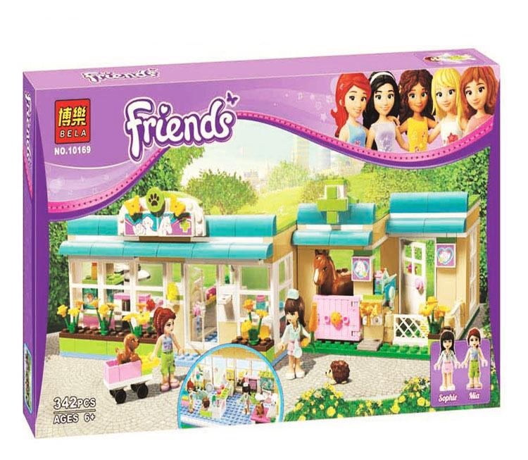 Original 10169 BELA Girl's Friends Pet Hospital Building Blocks Sets Minifigures Assemble Bricks Compatible Lego toys