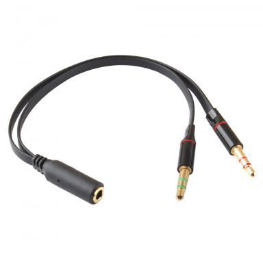 New Hot Sale 3.5mm Female to 2 Male Headphone Mic Audio Y Splitter Cable #54433(China (Mainland))