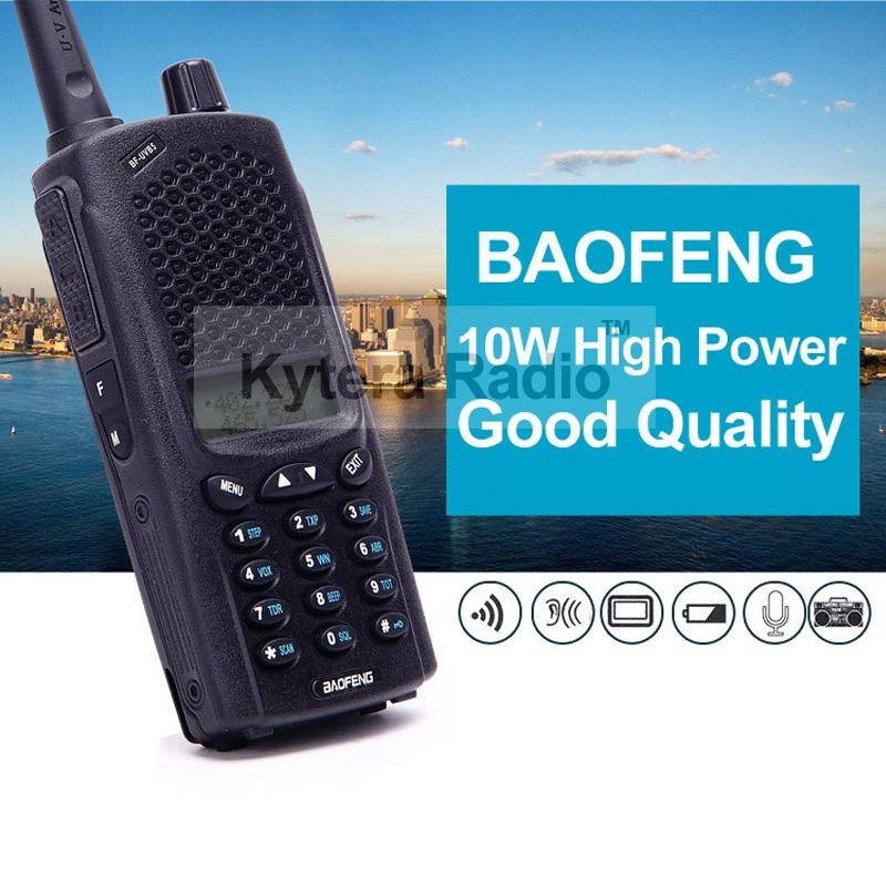 New Baofeng UVB5 Plus Walkie Talkie 5-10W High Power Portable Two Way Radio VHF UHF UV Dual Band BF-UVB5 PTT Transceiver(China (Mainland))