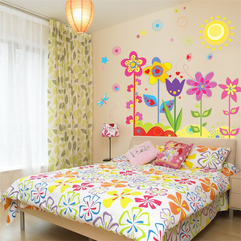 window room flowers in the sun decoration of baby room(China (Mainland))