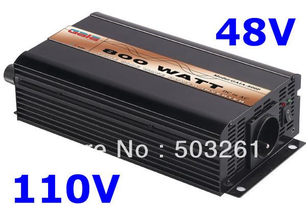 800w pure sine wave power inverter , 48V DC to AC 110V 60Hz solar/wind/car(China (Mainland))