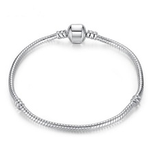 Fashion Silver Plated Bracelet & Bangle For Women Snake Beads Clasp Fits Pandora Bracelets Jewelry Accessories(China (Mainland))