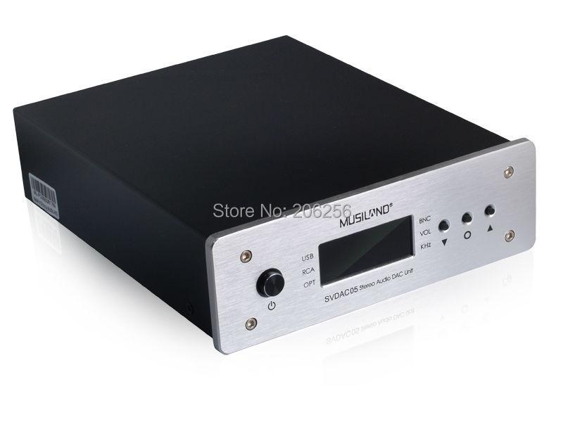New Musiland SVDAC05 stereo audio decoder USB soundcard fiber coaxial digital Sound Card BNC RCA TORX 3.5mm headphoe interface(China (Mainland))