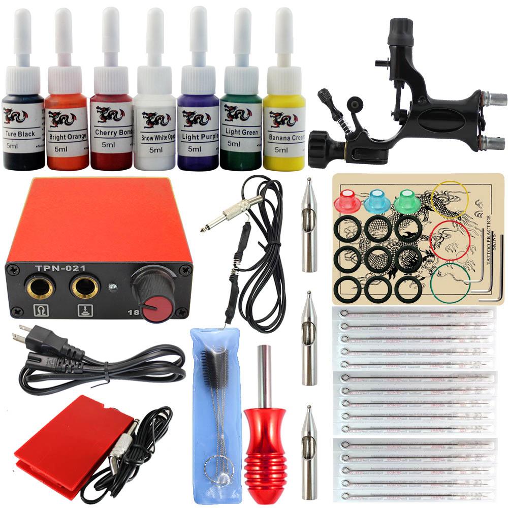 Complete tattoo kit 1 professional rotary machine kit1 pcs for Tattoo kit rotary