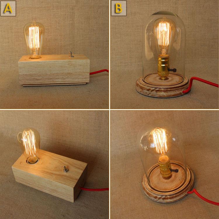 modern wooden tripod table lamp light wood color bedroom desk bedside reading. Black Bedroom Furniture Sets. Home Design Ideas