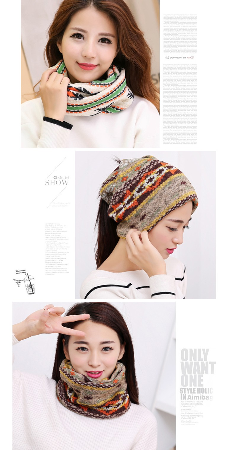 Three Kinds Of Usage Women's Scarf Hats Headgear For Women Winter Warm Knitted Cap Hot Spring Autumn Ladies Hats Women Scarves