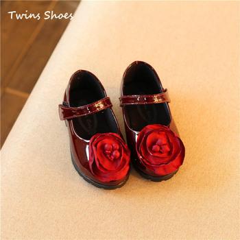 2016 новая коллекция весна детские цветок shoes дети red shoes for girls милые фальц дети brand shoes первый ходок shoes красный черный малыша