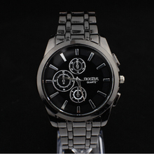 Men's Quartz Movement Analog Watch with Alloy Strap Black