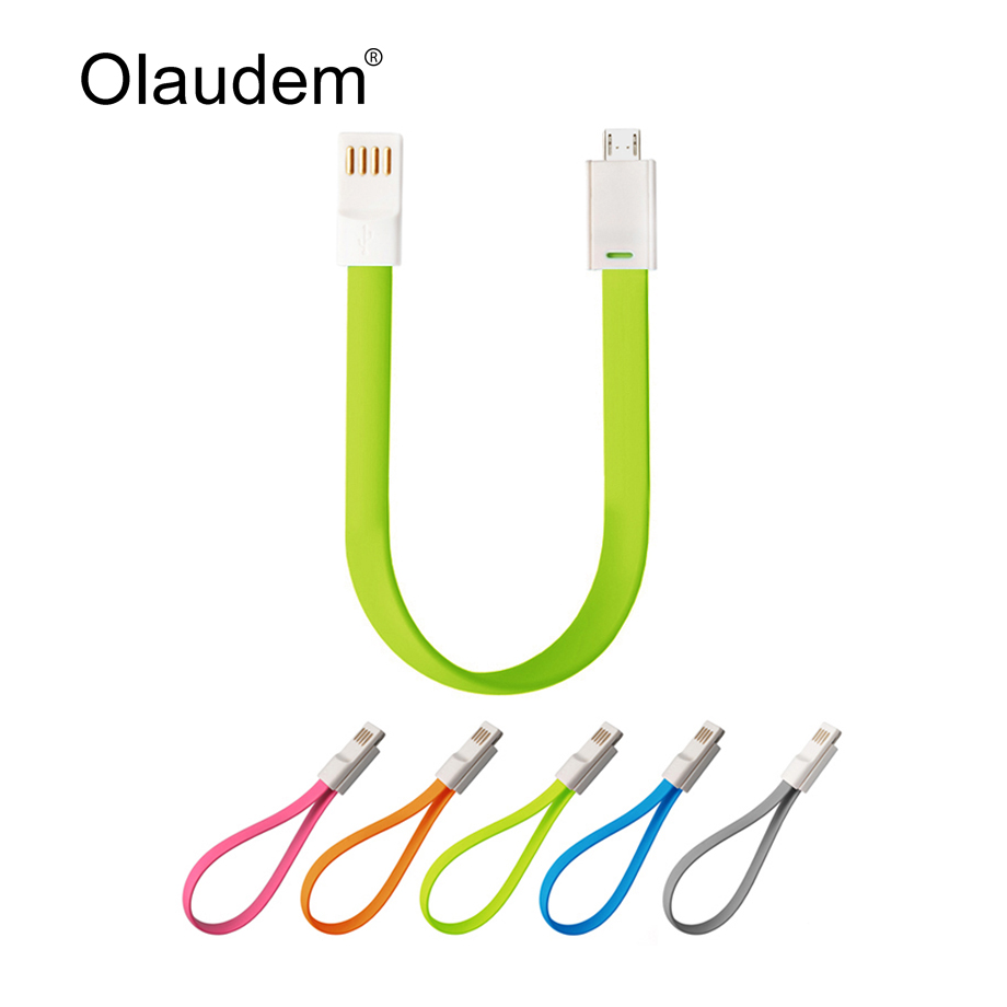 Flat Magnetic Charge Sync USB 2.0 Data Cable For Samsung Huawei HTC Lenovo Sony Android Mobile Phones Noodle Data Lines USBC308(China (Mainland))