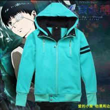 HOT NEW Tokyo ghouls Ken Kaneki everyday clothes same paragraph Animation  cotton Fall and Winter   Hoodies coat(China (Mainland))