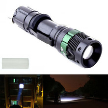 UltraFire 3000 Lumen Zoomable CREE XM-L Q5 LED Flashlight Torch Zoom Lamp Light Black(China (Mainland))