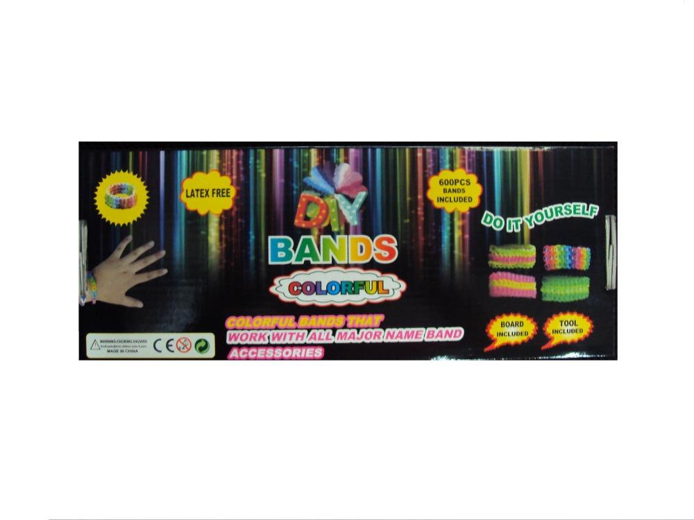 600 unids new Loom Bands DIY hand-crochet knit rubber band bracelet set weaving bracelets machine manufacturers wholesale(China (Mainland))