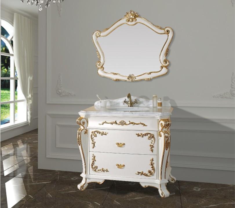 Single-sink-bathroom-vanity-slim-bathroom-cabinets-oak-wood-bathroom ...