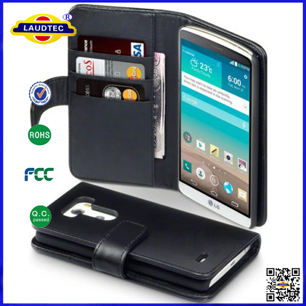 100 piece/lot Real Wallet Leather Flip Cover Case LG G3 --laudtec - Shenzhen Laudtec Electronics Co., Ltd. store