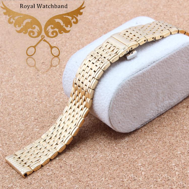 13mm 18mm Watch band strap Bracelets Gold Stainless Steel Deployment Clasp Bracelets<br><br>Aliexpress