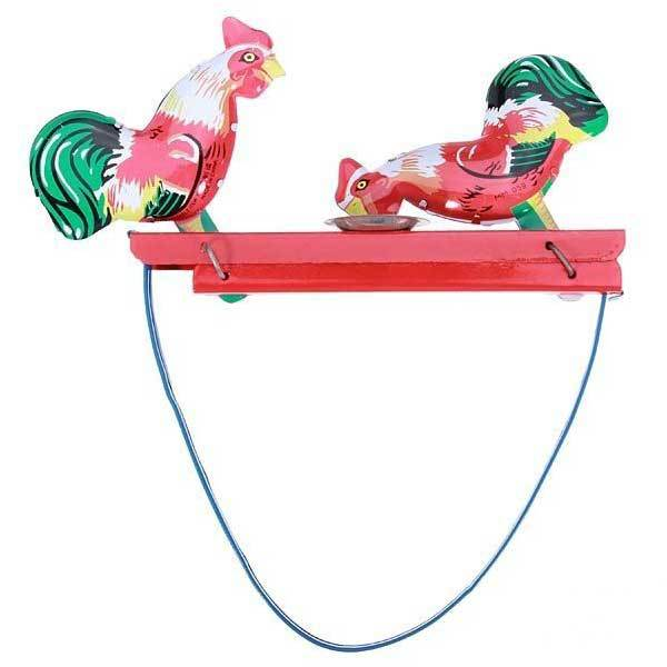 Gaston Vintage Toy Tin Rooster Peck Working Condition Antique Tin Toy(China (Mainland))