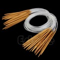 New 80cm 18sizes 18Pairs 32 Circular Nature Bamboo Carbonized Knitting Needles
