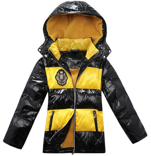 Wholesale 6 pcs Winter red yellow removable Children Boy girl Kids baby white duck down jacket feather jacket Outerwear HY374033