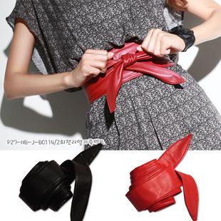 2015 High quality leather , fashion wide belt bow tie cummerbund star heat(China (Mainland))