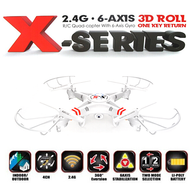 X-5 RC Quadcopter 2.4G 4CH 6-Axis Professional Aerial Drone, RC Helicopter, 2.0 MP HD Camera 2GB SD Card Take Picture Video(China (Mainland))