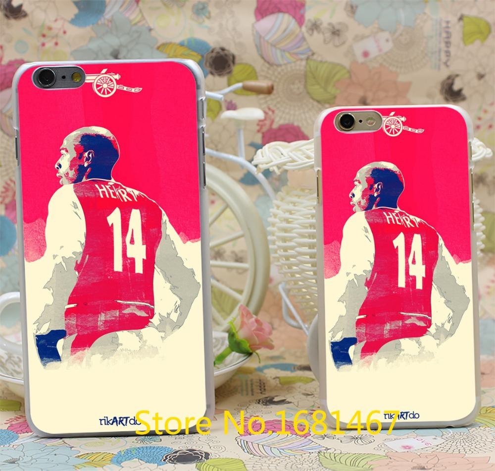 henry legend Arsenal Henry of Premier League football Design Hard Clear Skin Transparent For iPhone 6 6s 6 plus 6+ Case Cover(China (Mainland))