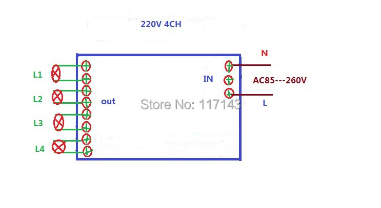 Купить AC85v ~ 250 В 110 В 220 В 230 В 4CH РФ Беспроводной Реле Дистанционного Управления Переключатель Системы Безопасности Гараж двери, прокатки Ворота Электрические Двери