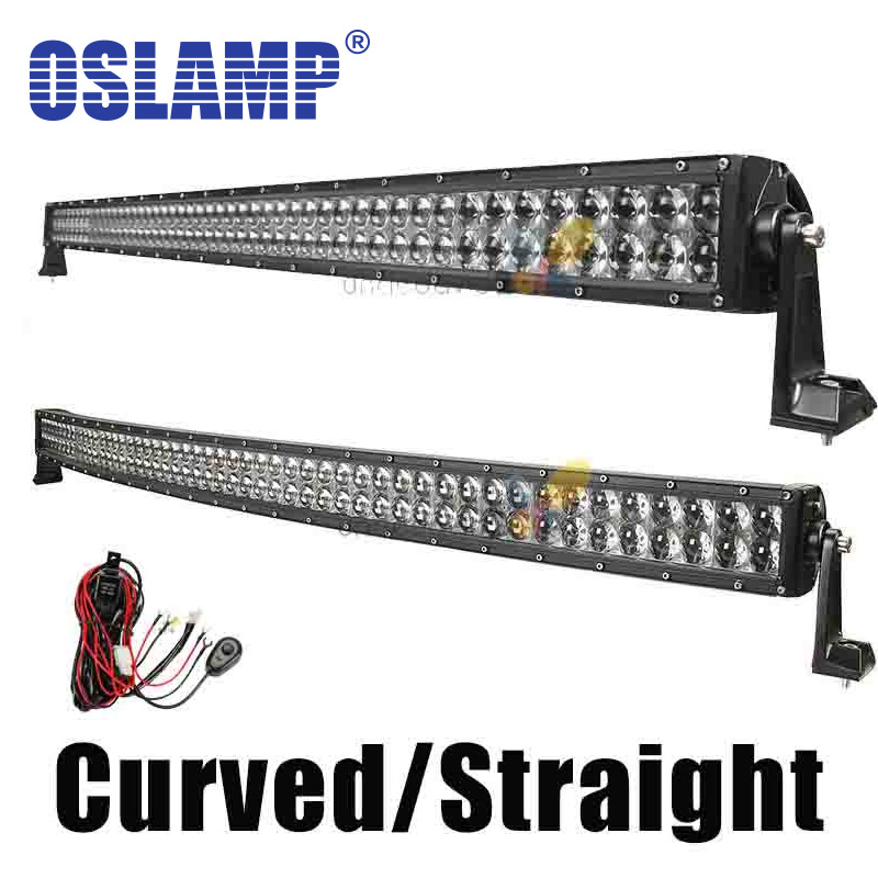 """Oslamp 4D 50"""" Spot Flood Combo Beam Offroad Curved 480w LED Light Bar Offroad 4x4 SUV 4WD Truck Trailer Camper Caravan Tractor(China (Mainland))"""